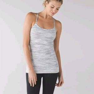 Power Y Tank Top Space Dye Camo White Silver Spoon